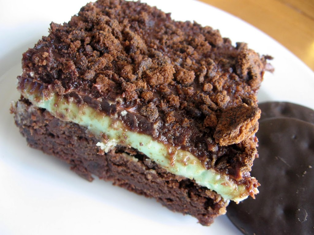 Thin Mint Brownies - Lulu the Baker
