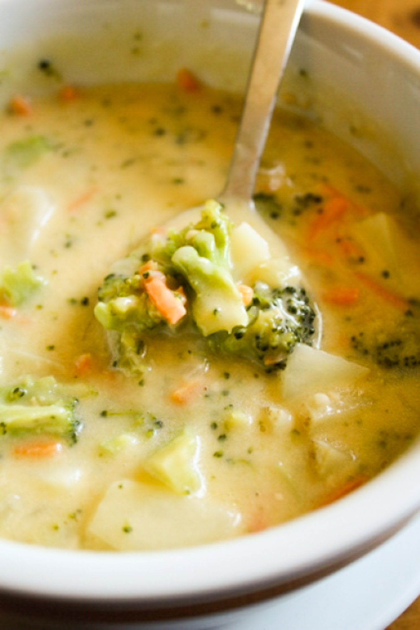 One of my family's favorite dinners is this cheesy vegetable chowder packed with flavor!