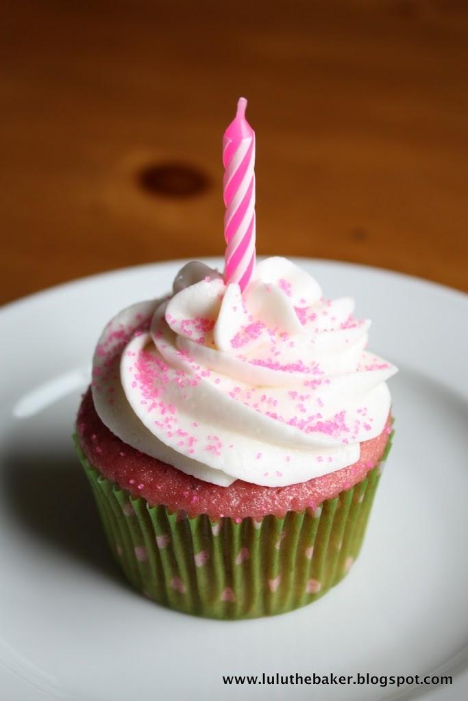 Fine Happy Birthday Strawberry Cupcakes Lulu The Baker Funny Birthday Cards Online Eattedamsfinfo