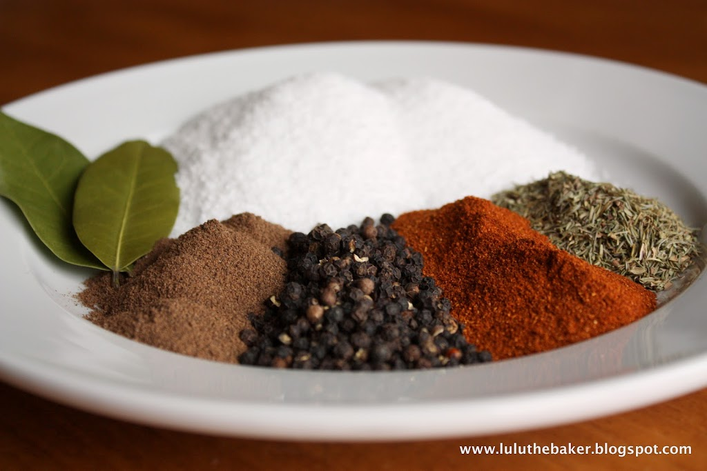 The spices required to make corned beef.