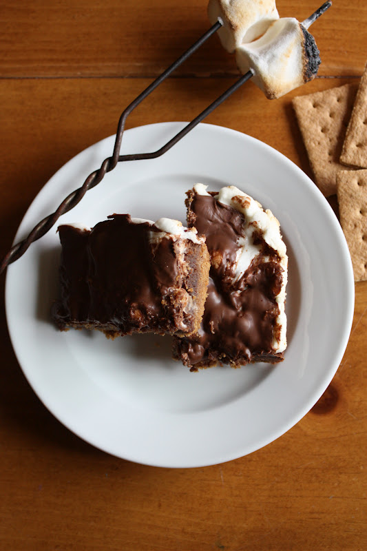 The original s'mores brownie recipe!! A graham cracker crust, fudgy brownie filling, and gooey marshmallows all topped with melted milk chocolate!