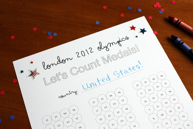 printable olympics medal count sheet