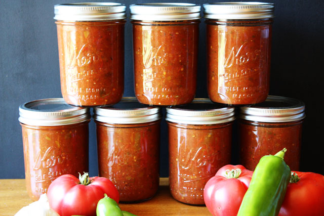 This recipe for salsa for canning will become your favorite!