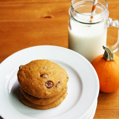 These super soft pumpkin chocolate chip cookies are a delicious Fall classic!