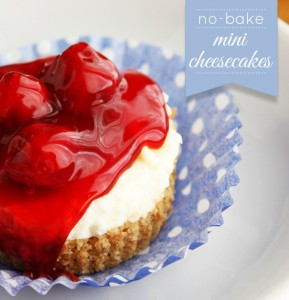 no-bake-mini-cheesecakes