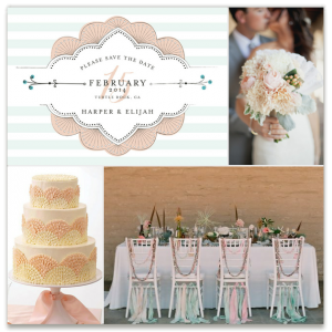 Seafoam and Scallops by Melissa, see more Minted save the dates