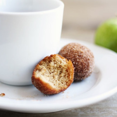 These delicious homemade applesauce donuts are the perfect fall treat!
