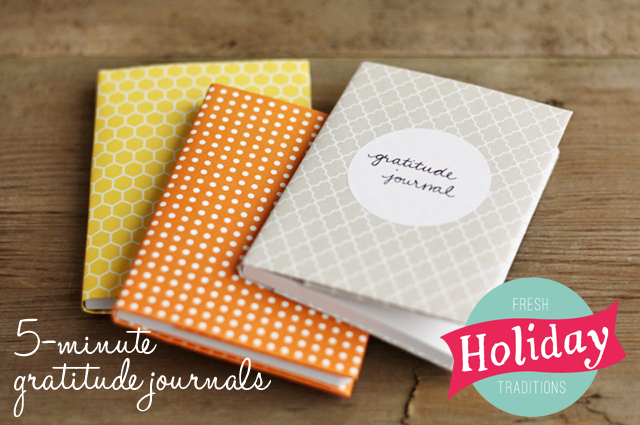Make these quick gratitude journals to help you be more mindful this Thanksgiving season.