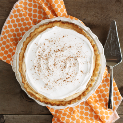 The creamy, dreamy pumpkin chiffon pie is my favorite Thanksgiving dessert!
