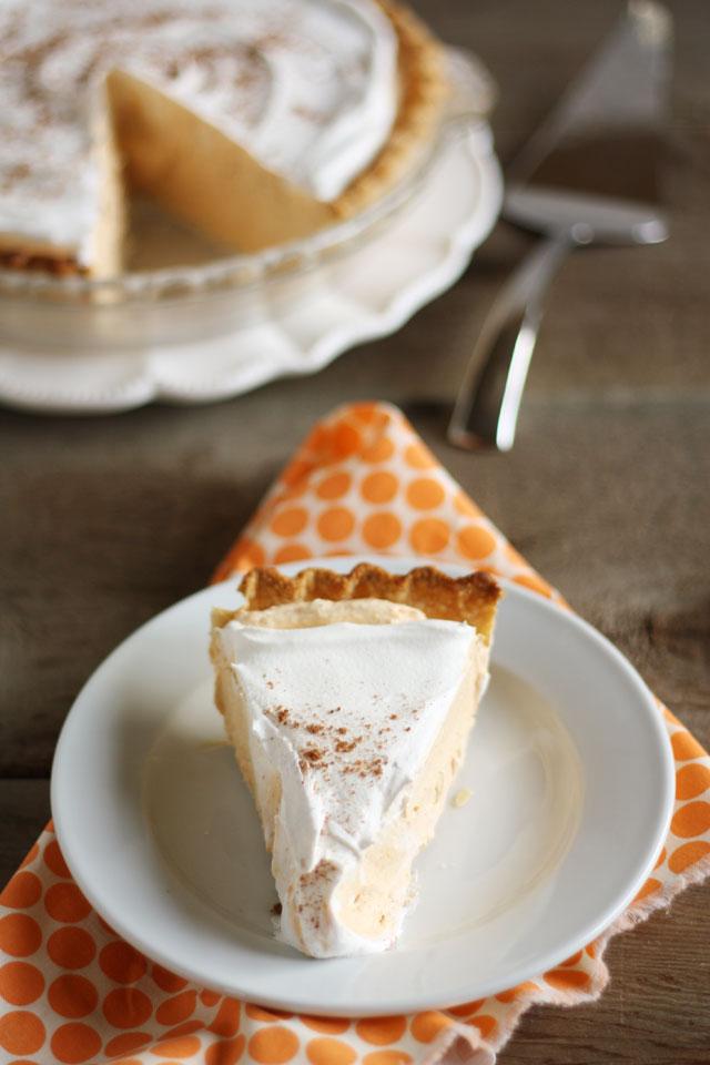 The creamy, dreamy pumpkin chiffon pie is my favorite Thanksgiving dessert!