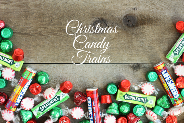 make these diy christmas candy trains for teacher gifts party favors present toppers