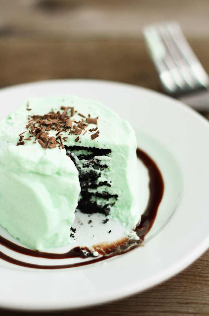 mini grasshopper icebox cakes st patrick's day desserts