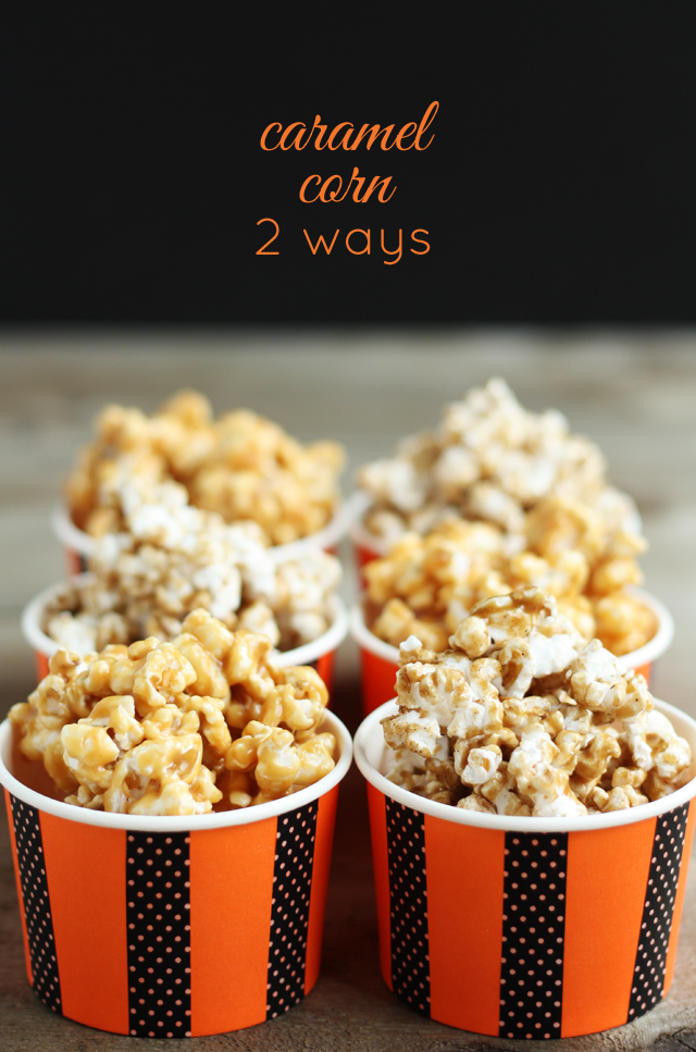 Fall Caramel Corn, 2 Ways