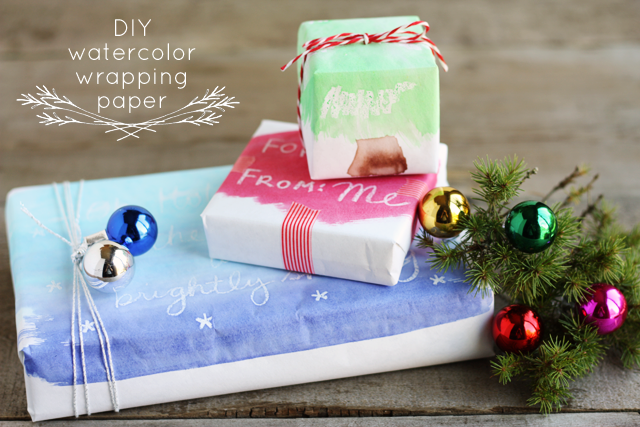 DIY Watercolor Wrapping PaperLulu the Baker