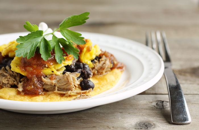 huevos rancheros pork black beans