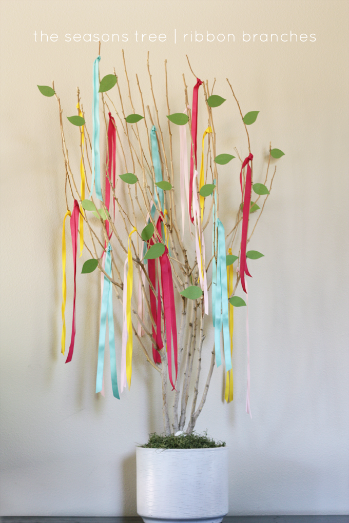 ribbons in trees
