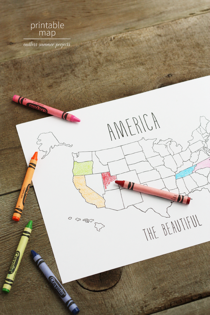 Endless Summer Projects Printable Maps With Bing Lulu The Baker - Blank map of us summer trip