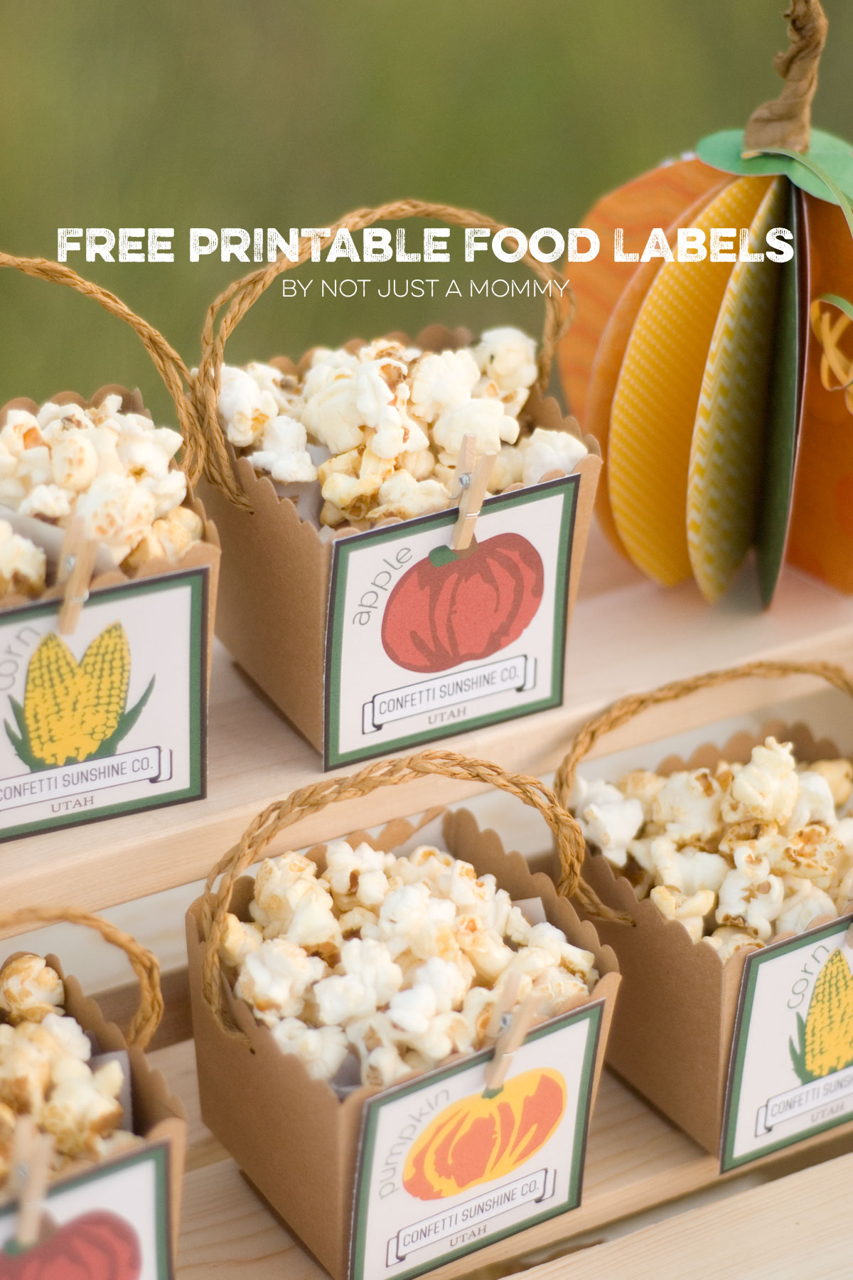 free printable autumn fall farmers market party