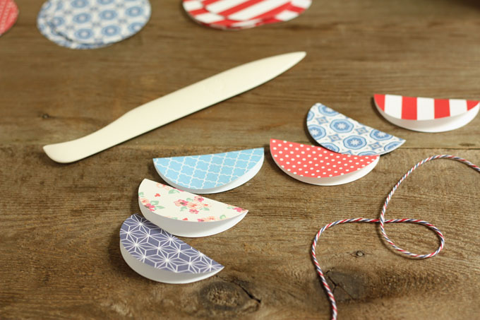 paper garland flags banner DIY