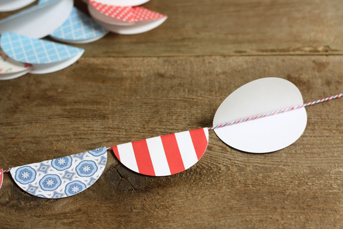 paper banner flags bunting party decor