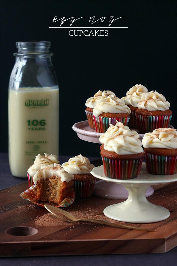 christmas eggnog cupcakes buttercream icing