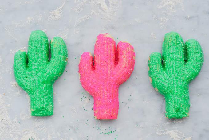 cactus sugar cookies cast-iron