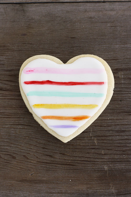 Painted Heart Sugar Cookies