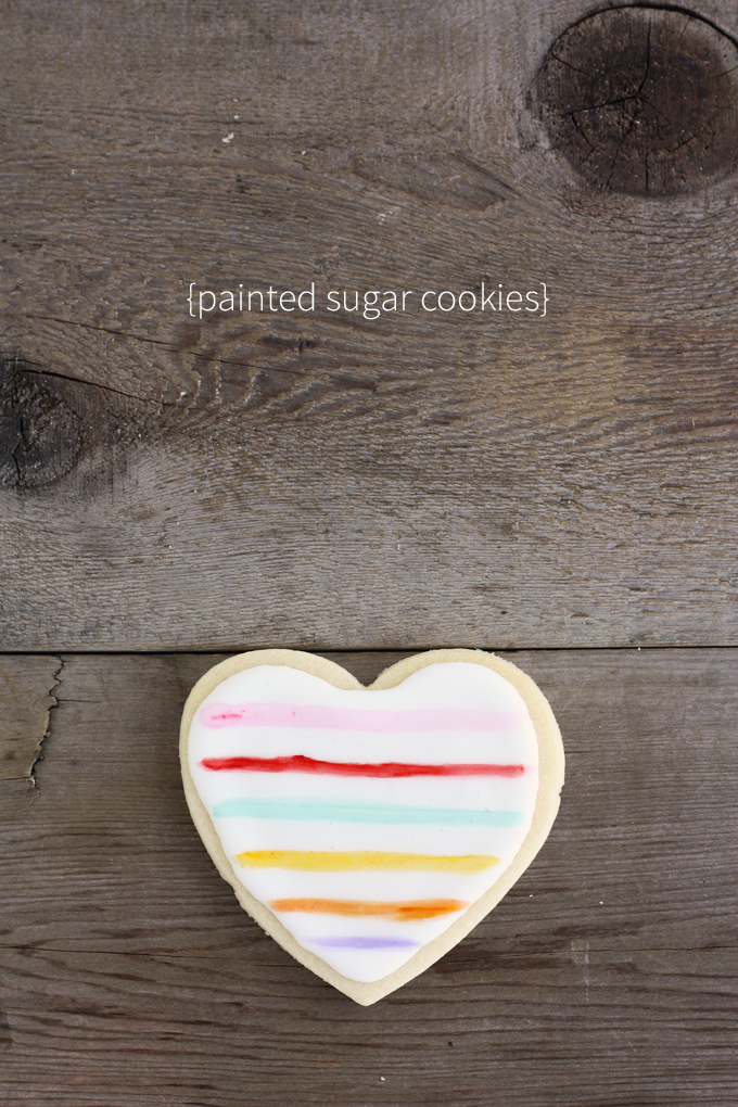 painted heart sugar cookies valentines day painting royal icing