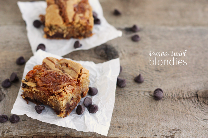 chocolate coconut caramel blondies