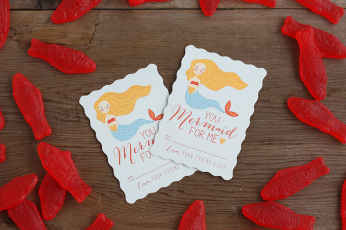 minted classroom valentine mermaid swedish fish