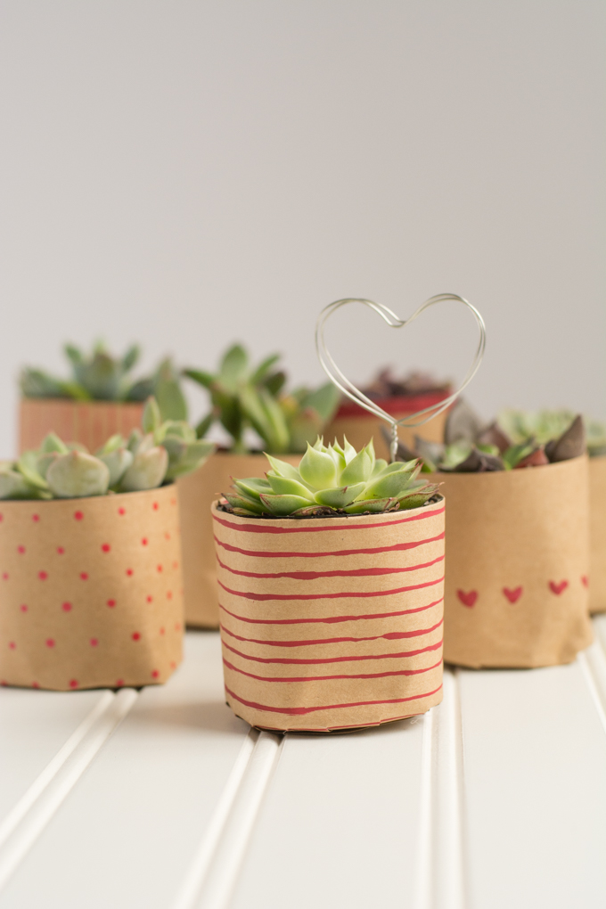 paper bag plant pot DIY