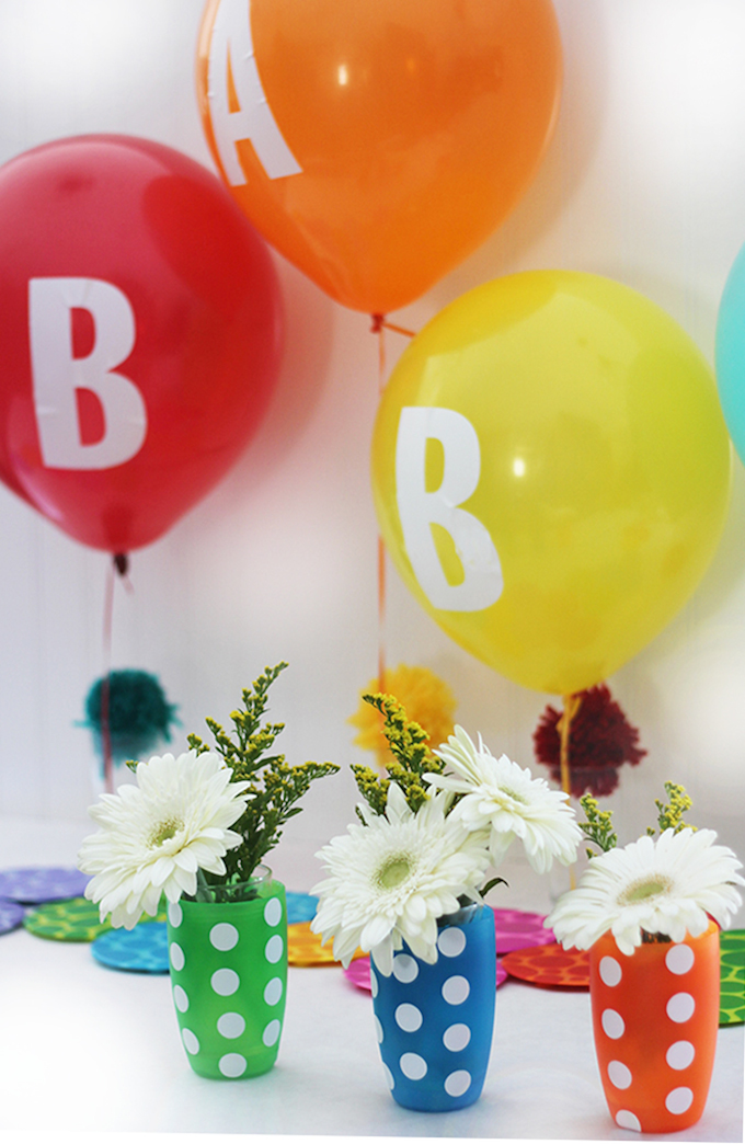 kids party balloons flowers baby shower colorful rainbow