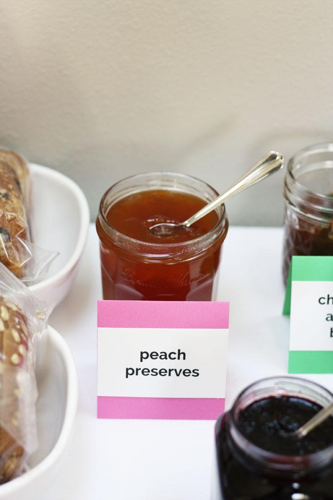 gourmet peanut butter jelly sandwich bar