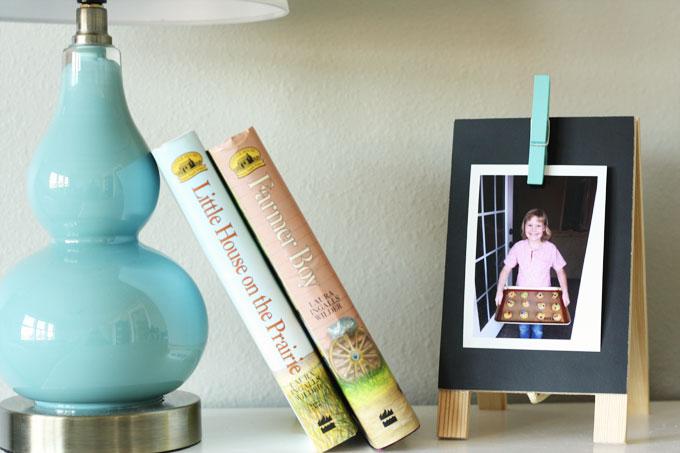 family photo clip board DIY timeshel
