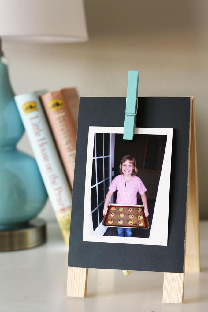 DIY family photo display clip board timeshel