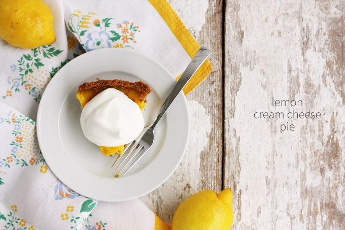 lemon cream cheese pie cheesecake