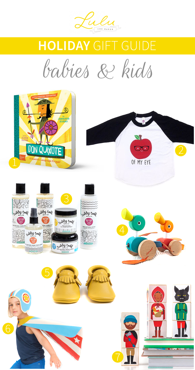 Holiday Gift Guide: Babies & Kids from Lulu the Baker