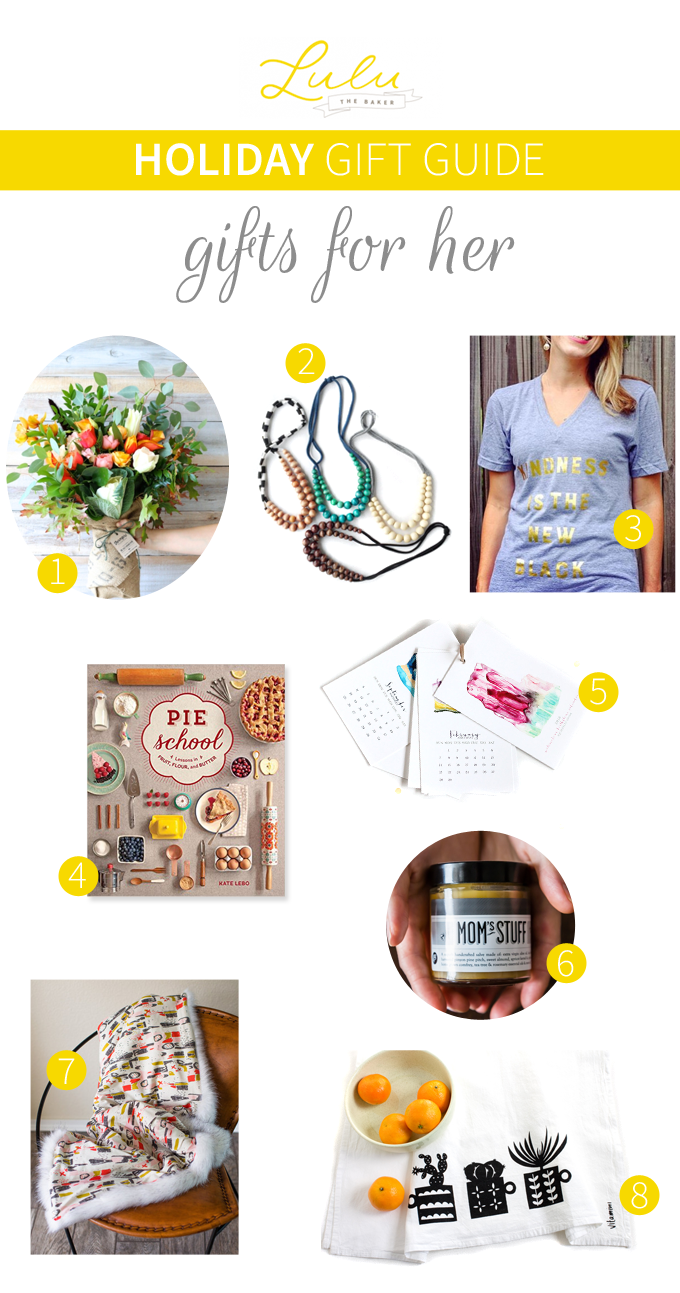 A Holiday Gift Guide: Gift for Her | from Lulu the Baker