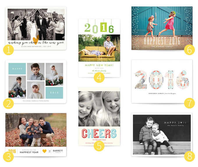 New Years cards from Minted