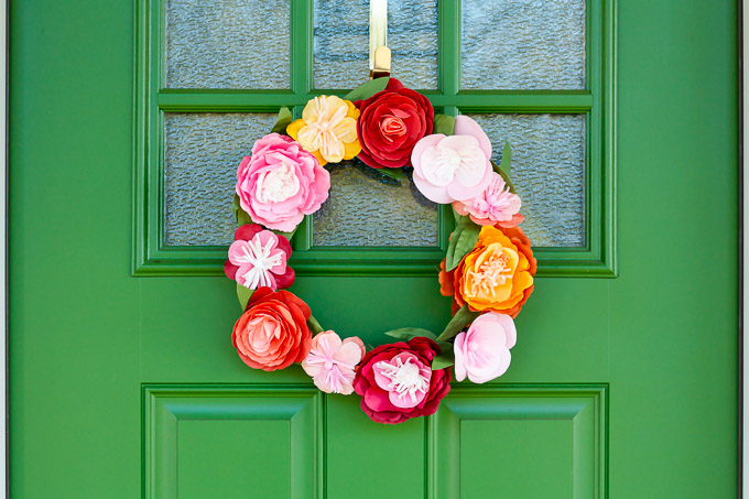 paper flower Spring wreath dream house