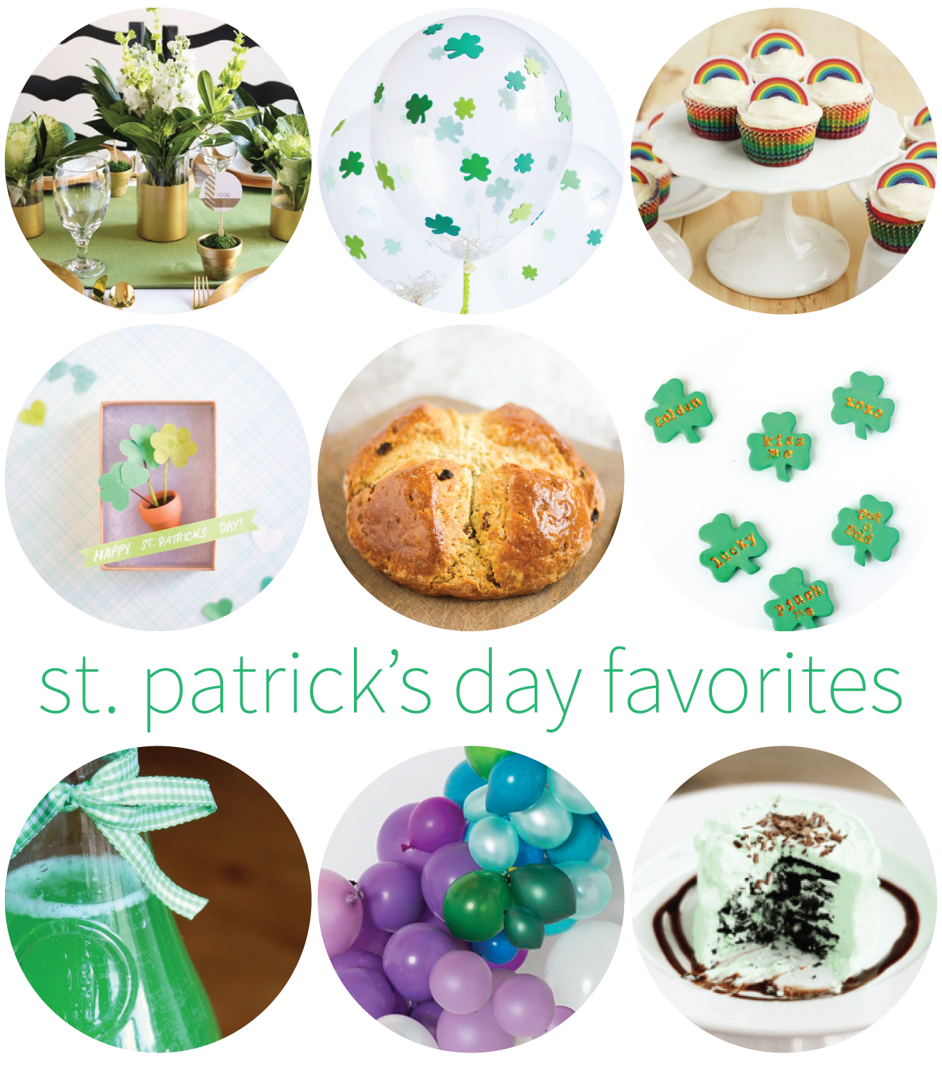 food, decor, and party ideas for St. Patrick's Day