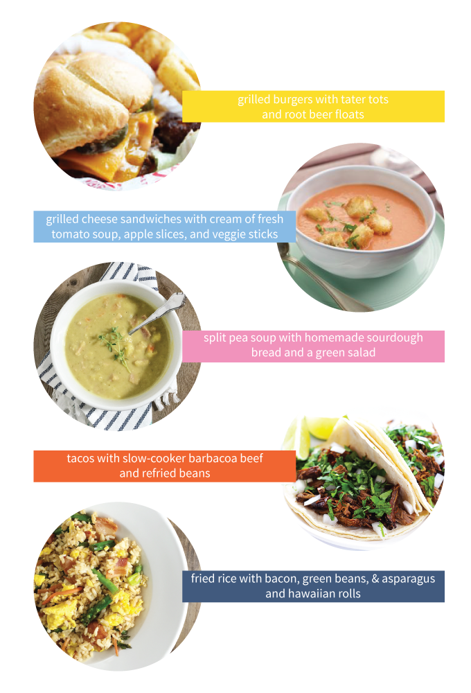 Delicious and easy menu ideas for busy weeknight dinners