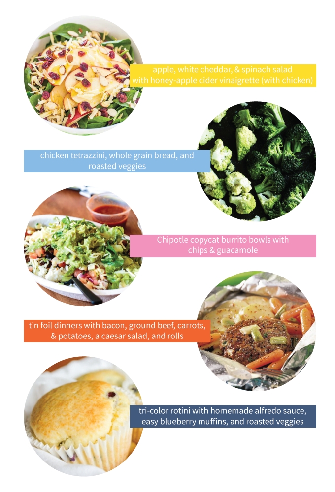 Menu ideas for quick and easy, family friendly weeknight dinners