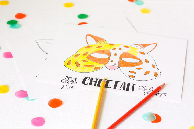 free printable Zootopia-inspired animal masks for you to color, cut out, and wear