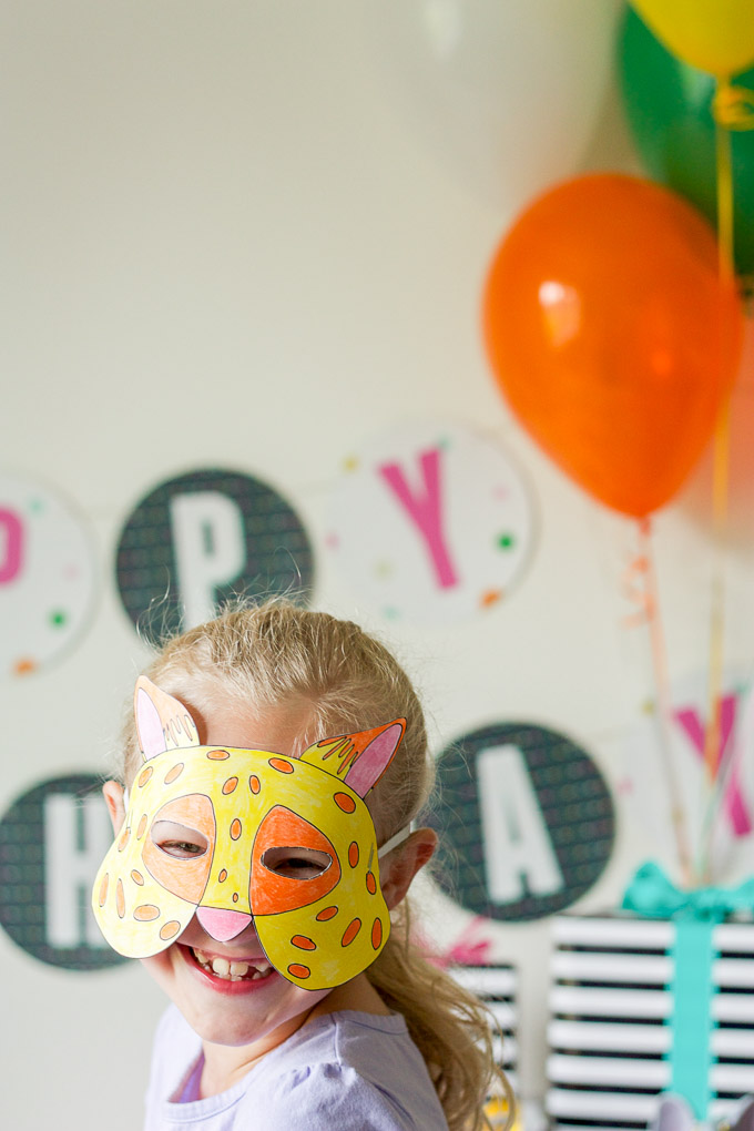Free printable Zootopia-inspired masks for an animal-themed birthday party