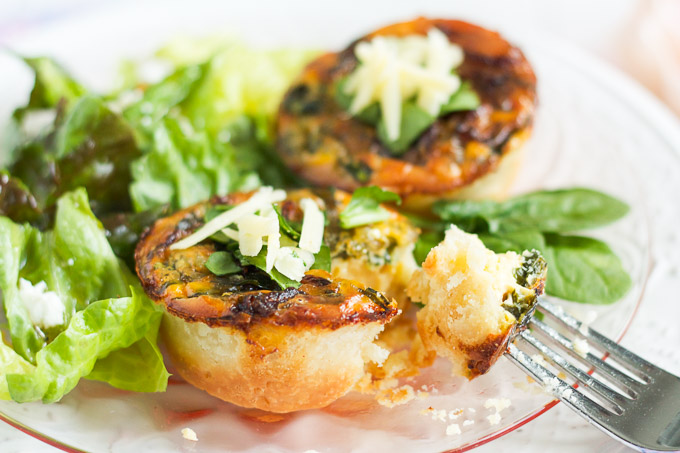 Caramelized Onion, Spinach, & White Cheddar Quiche would be the perfect addition to your Mother's Day brunch menu.