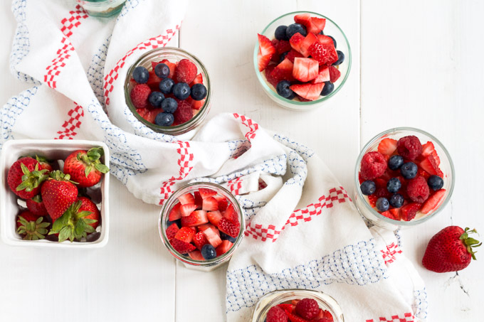 No-bake cheesecakes topped with fresh, ripe berries make the perfect summer dessert!
