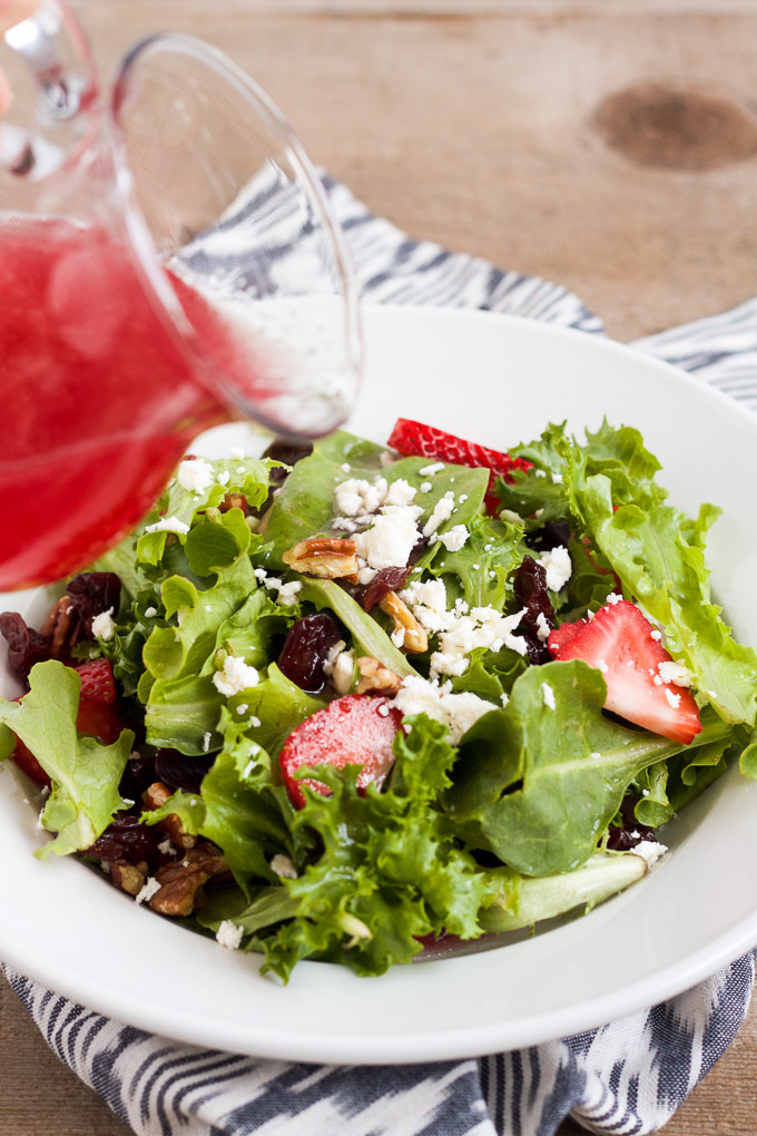 This salad is perfect for strawberry season!