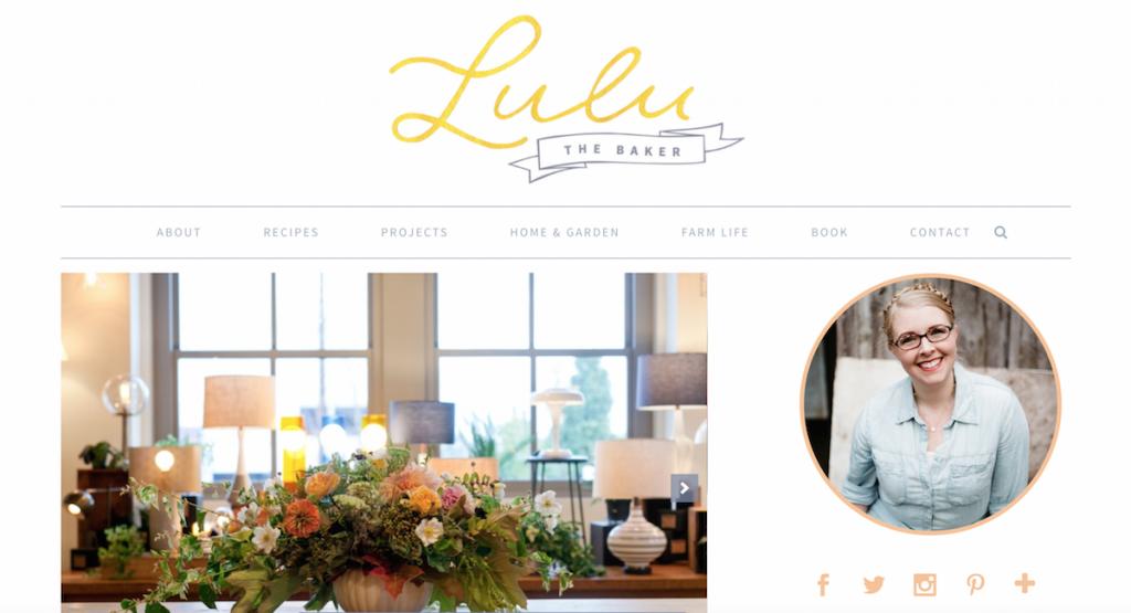 lulu the baker blog makeover