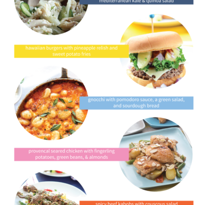 5 easy and delicious dinner ideas for your menu planning pleasure!